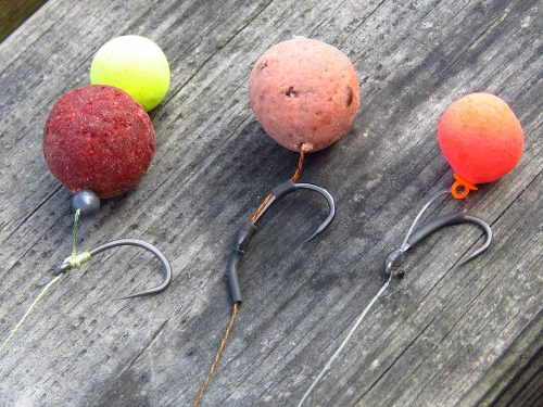 snowman rigs for carp and catfish on the river ebro