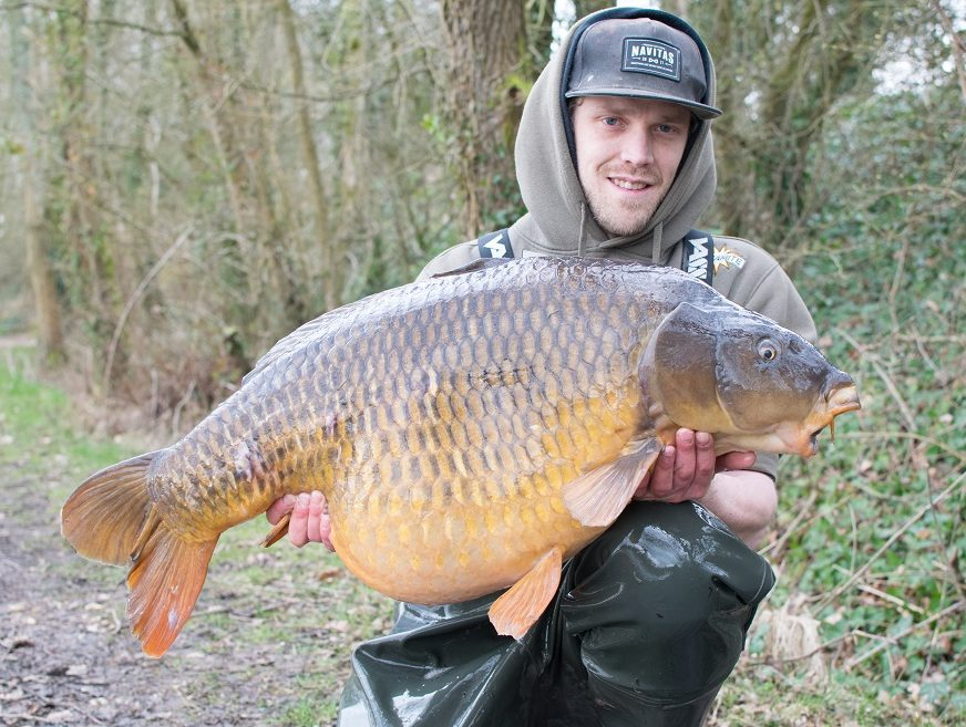 the 41lb Scar Common caught on a Monster Tiger Nut pop-up