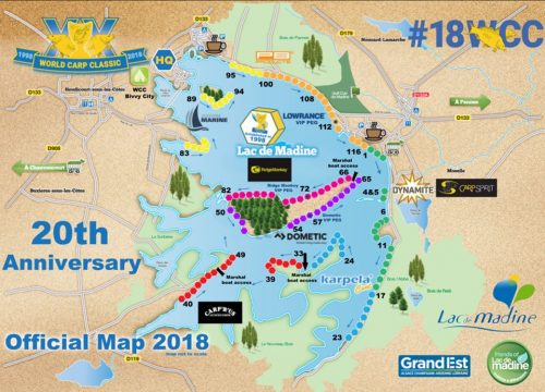map of madine for world carp classic