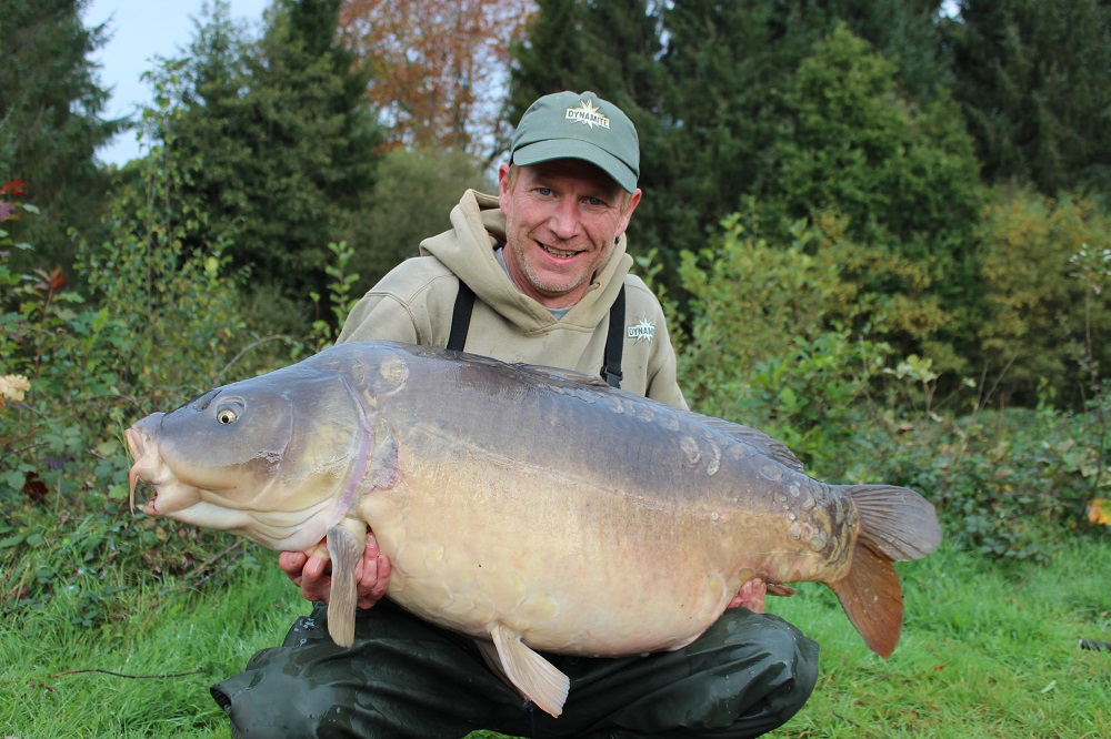 65lb red amo caught mirror carp