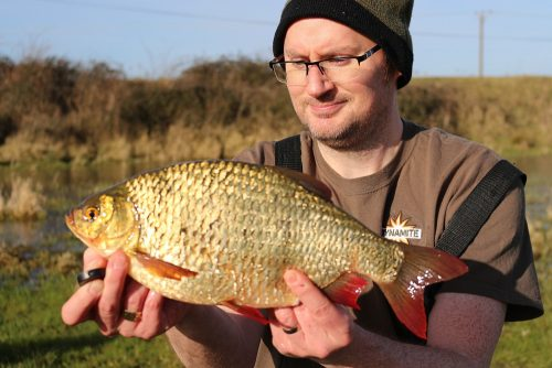 Kevin Sanders, 2lb 10oz rudd, XL Strawberry Liquid, Fen River
