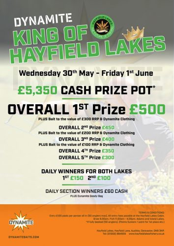 King of HAYFIELD LAKES festival POSTER