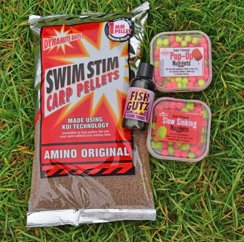 Mark's feed choice bait is SwimStim carp pellets while he uses Slow Sinking Nuggets trimmed and flavoured with Fish Gutz on the hook