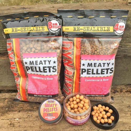 meaty fish bites and meaty pellets top barbel float fishing bait