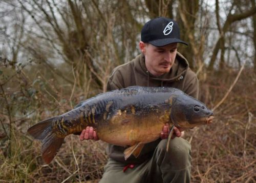 25lb mirror caught by ross ryder on monster tiger nut
