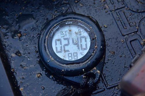 a stop watch is a great tool for bream feeder fishing
