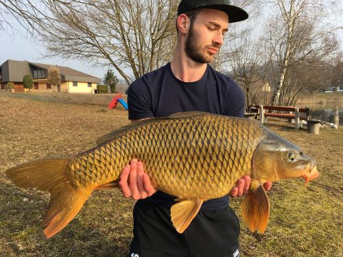 carp fisherman Michael Mostecky Carptech Krill & Crayfish boilie