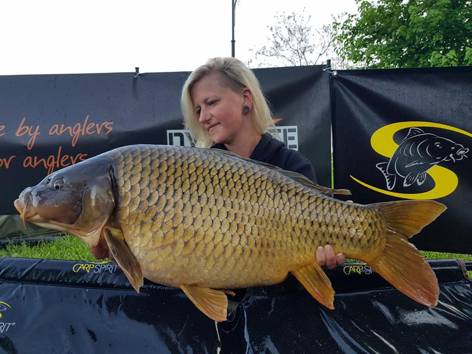 Amy Schuster with a large IBCC Balaton Lake caught carp