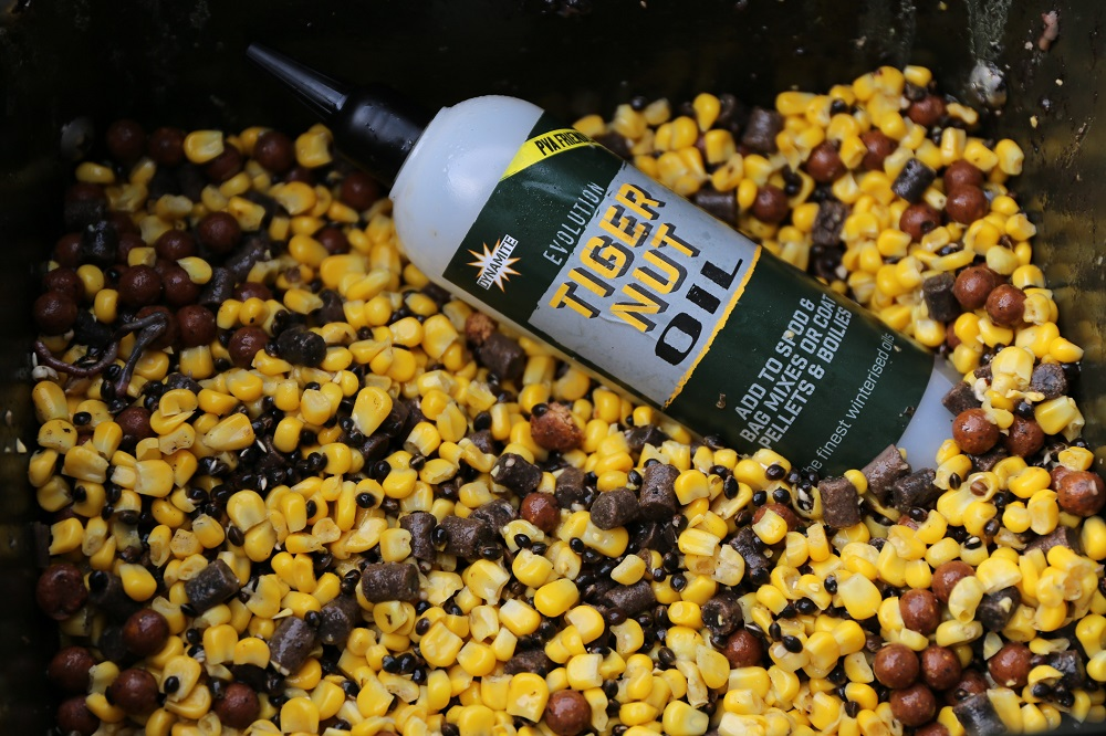 xl corn, frenzied hemp and tiger oil a great spod mix for carp