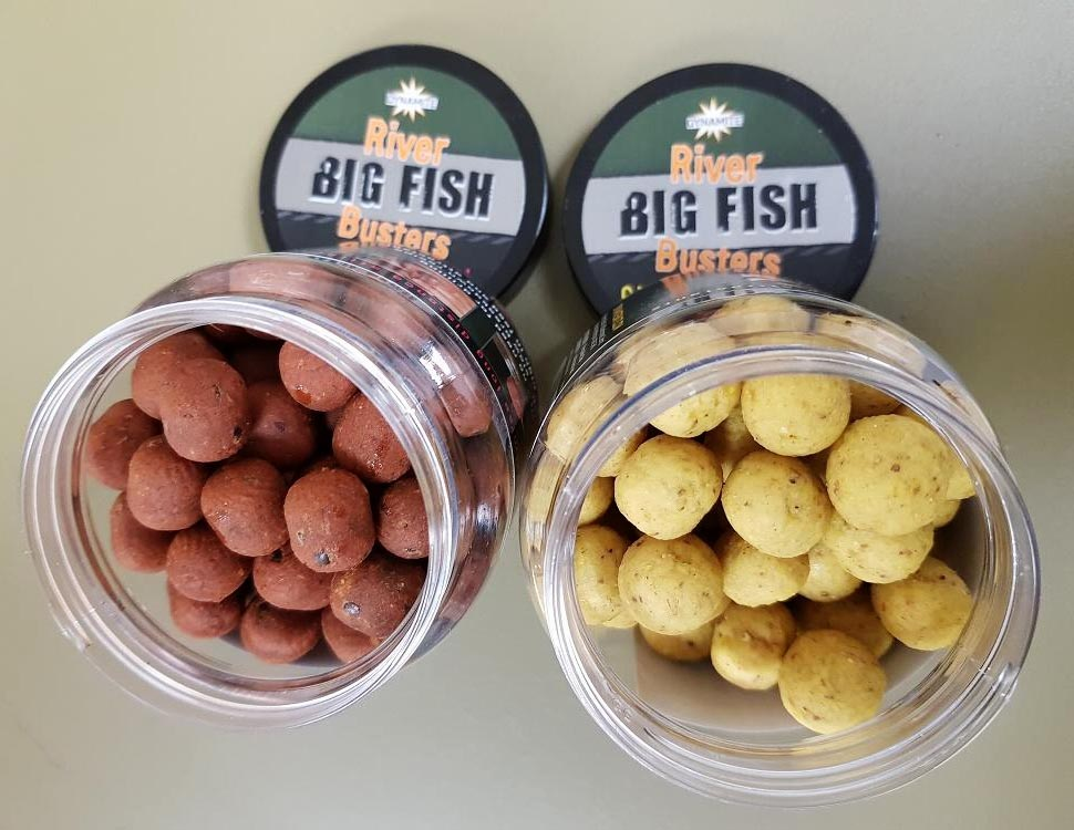 barbel and carp river fishing hookbaits for the big fish river range