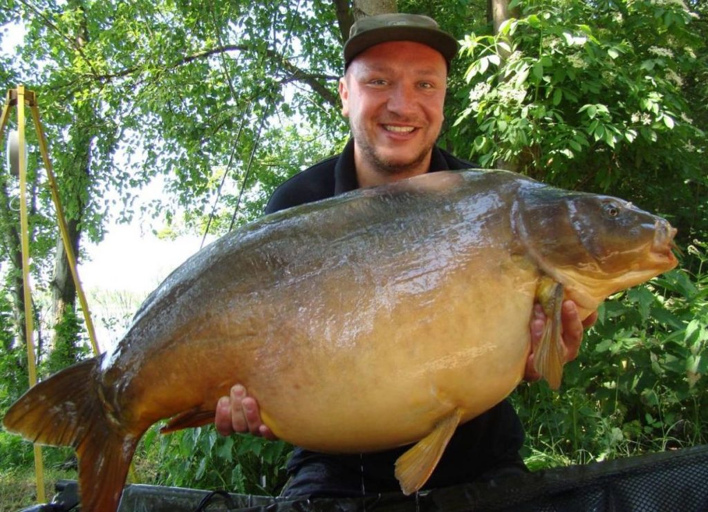 poland fishing for carp monster tiger nut