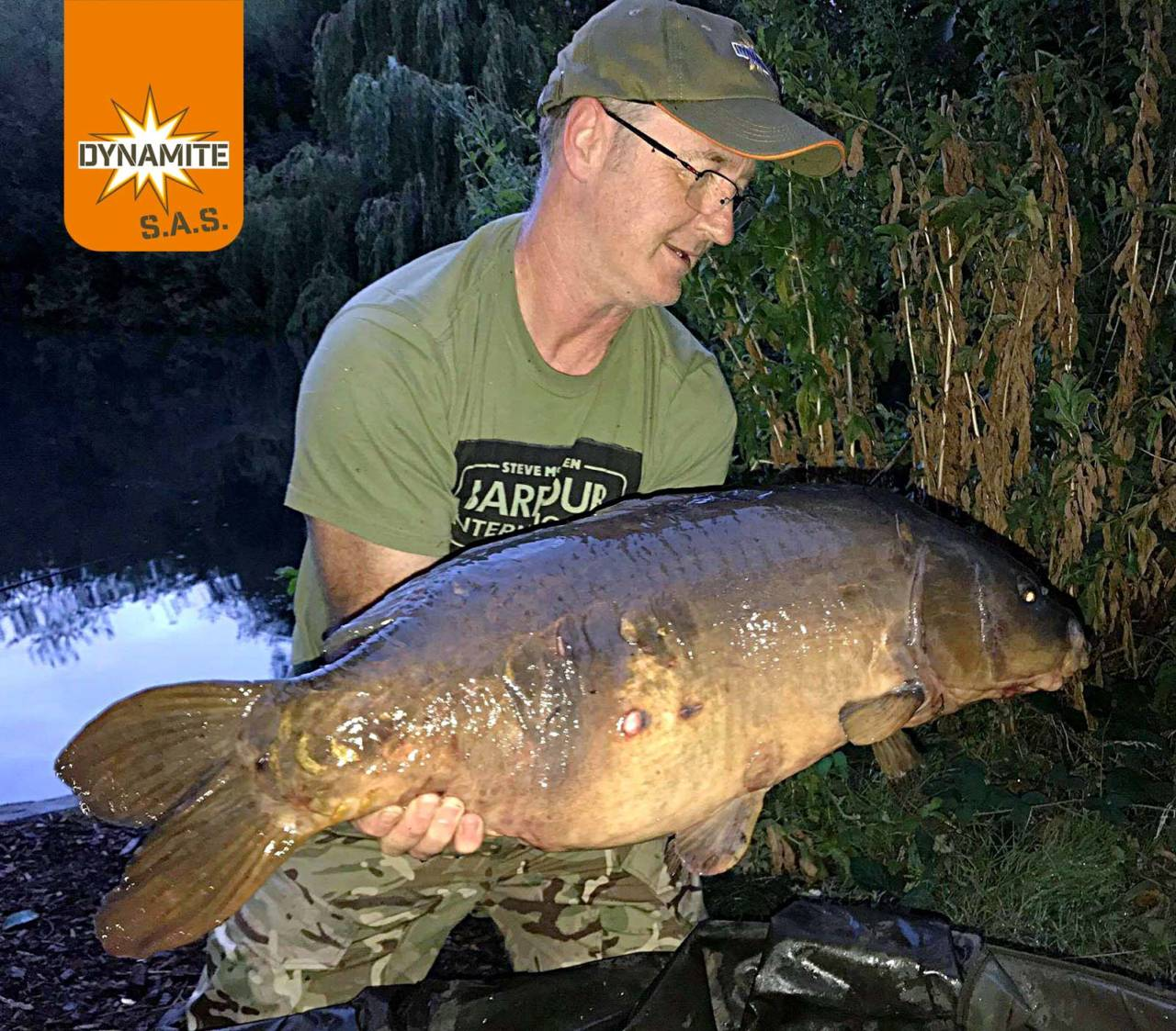 2nd place july sas swan lake 32lb carp
