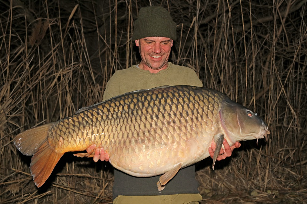 Pete Castle and his Italian PB carp caught using solid pva bags