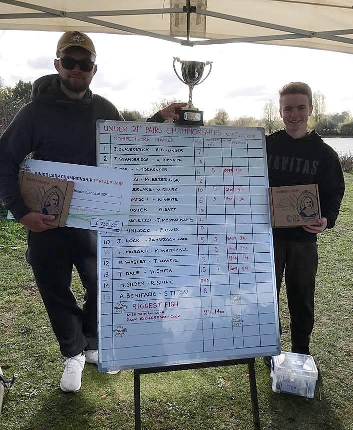 2018 junior carp championship pairs
