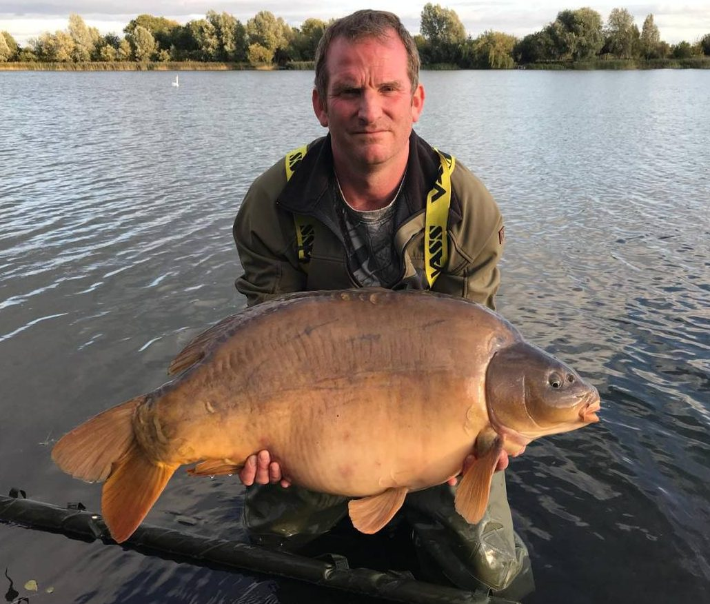 grenville 40lb carp on red amo boilies