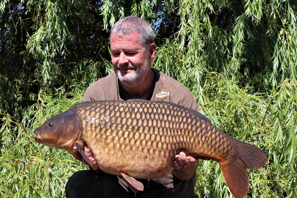 tony gibson with a nene valley common carp