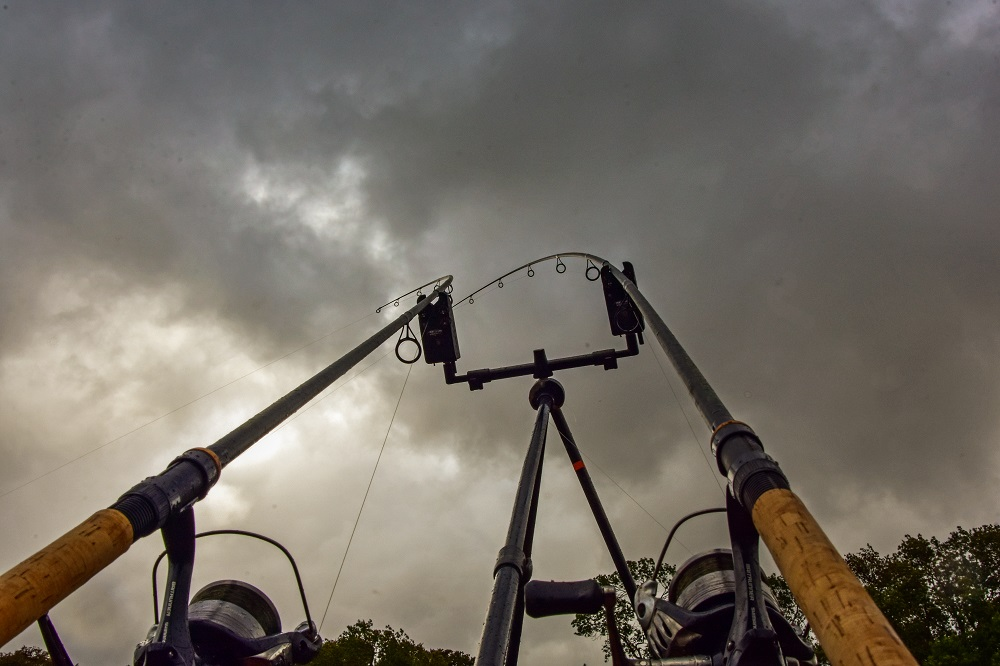 Keep the rod tips high when river fishing