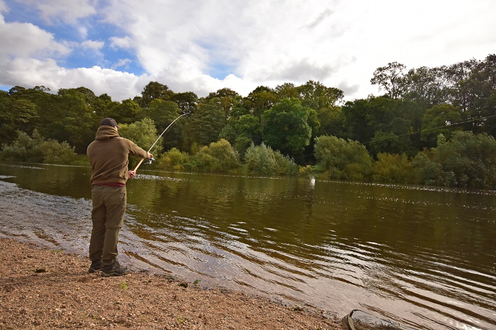 Where to target the barbel. Three-quaters of the way across is a good spot along the majority of the Trent