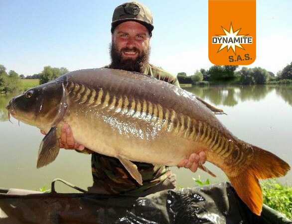 the source caught 36lb linear carp steven light