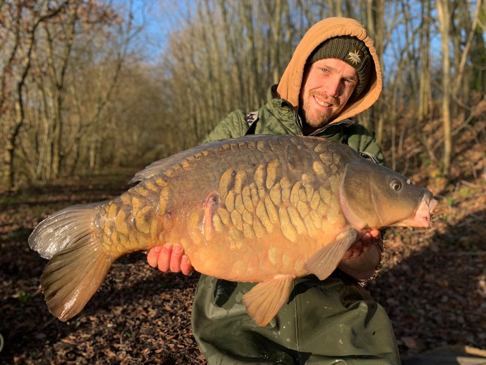 richie leat winter carp fishing on mohawk rig