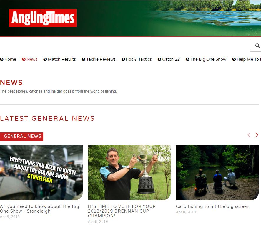 read angling news