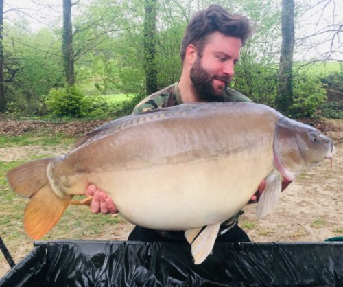 steven light 40lb 4oz carp on the source