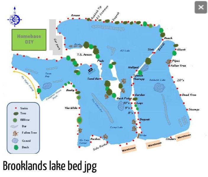 map BROOKLANDS FISHERY