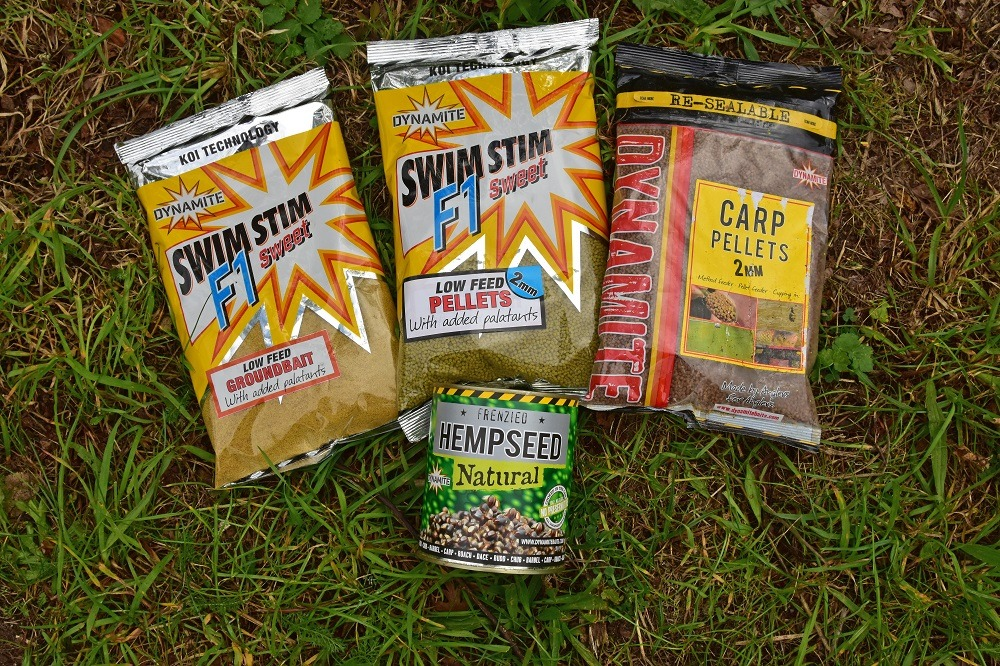 Carp at Cross Drove just love the taste of F1 Sweet Groundbait and pellets