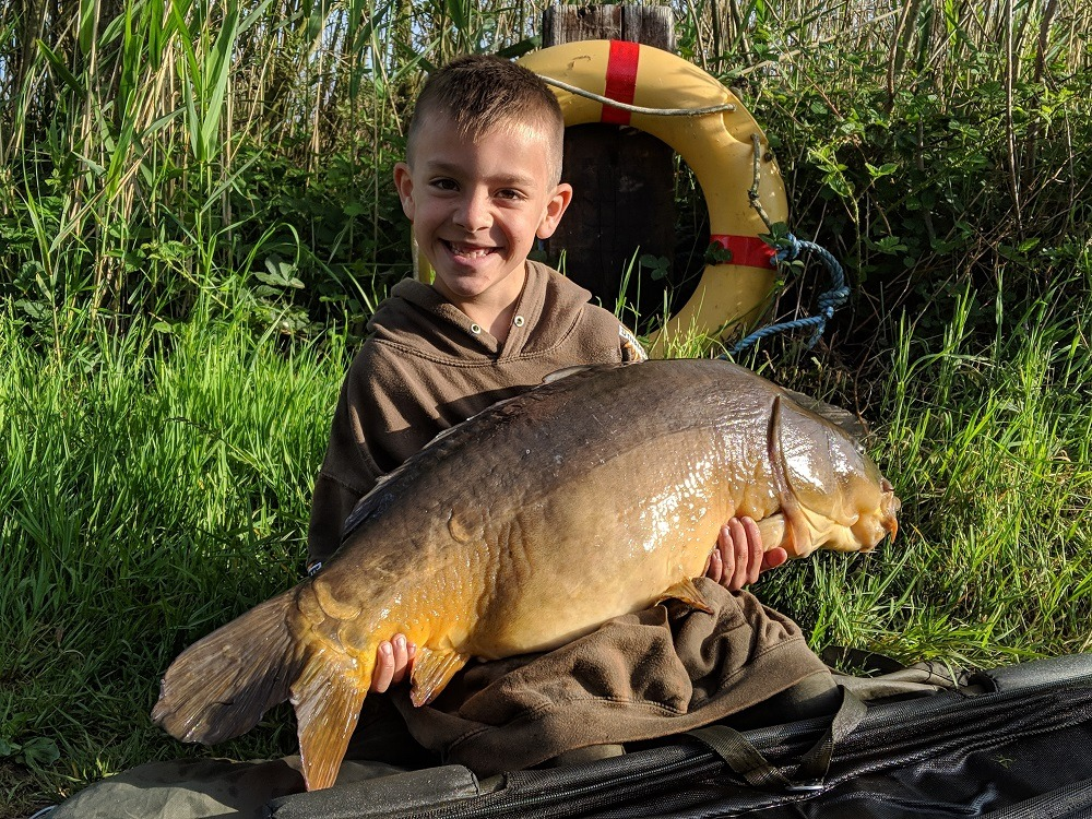 alfie with the 28.13 and a pb