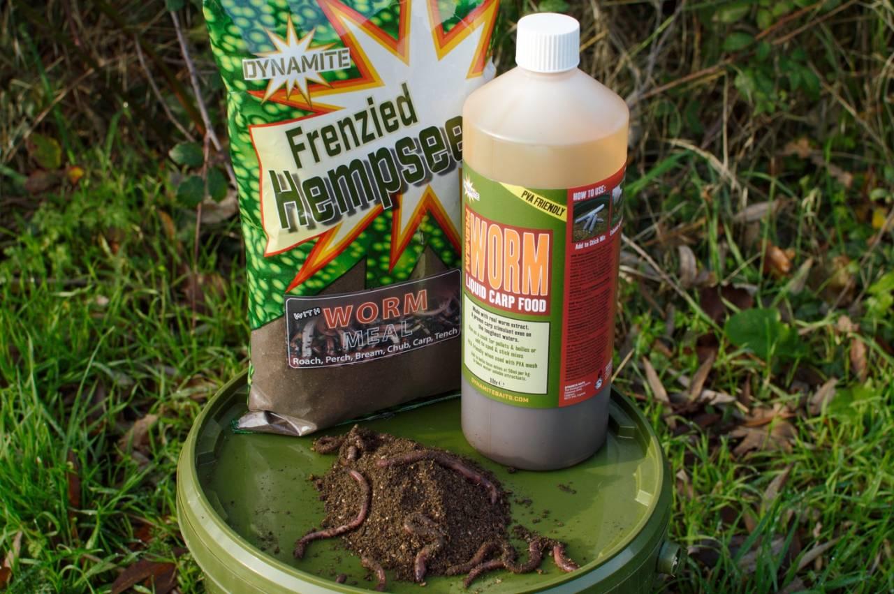 worm groundbait for boilies