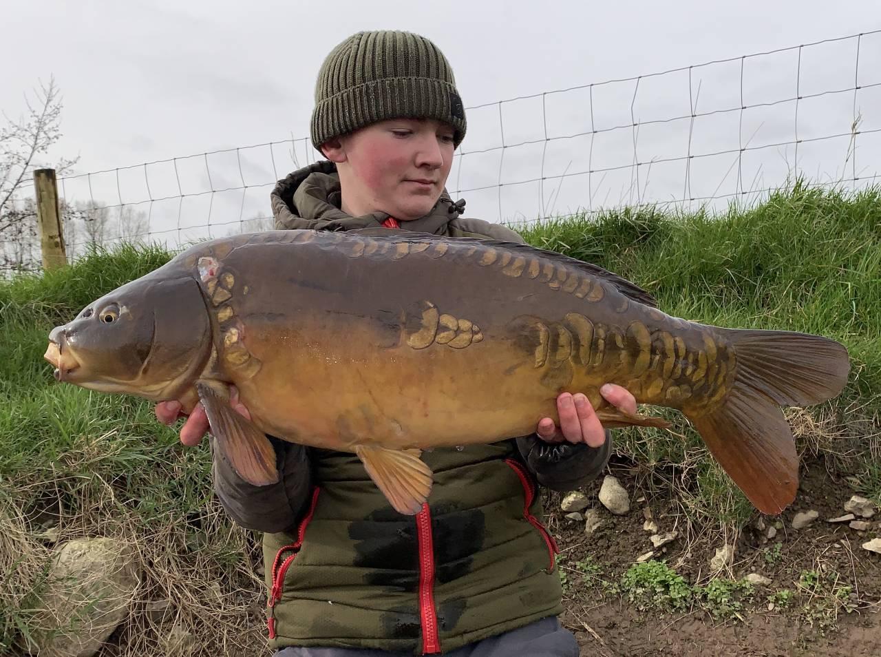 Kaden McCarthy 23lb 3oz clearwater carp