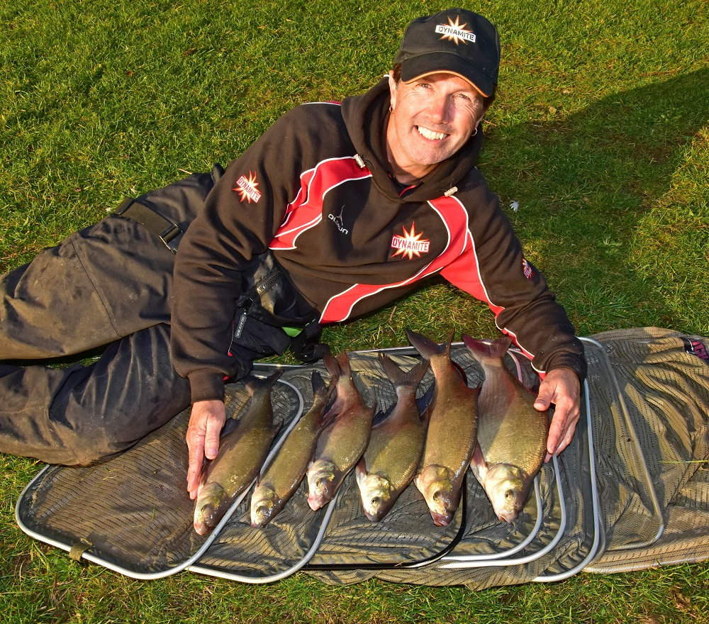 A CATCH OF BREAM TAKEN ON Betaine Green Pellets