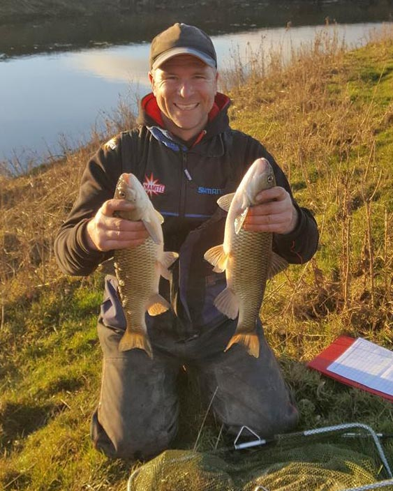 fishing for chub on the river swale