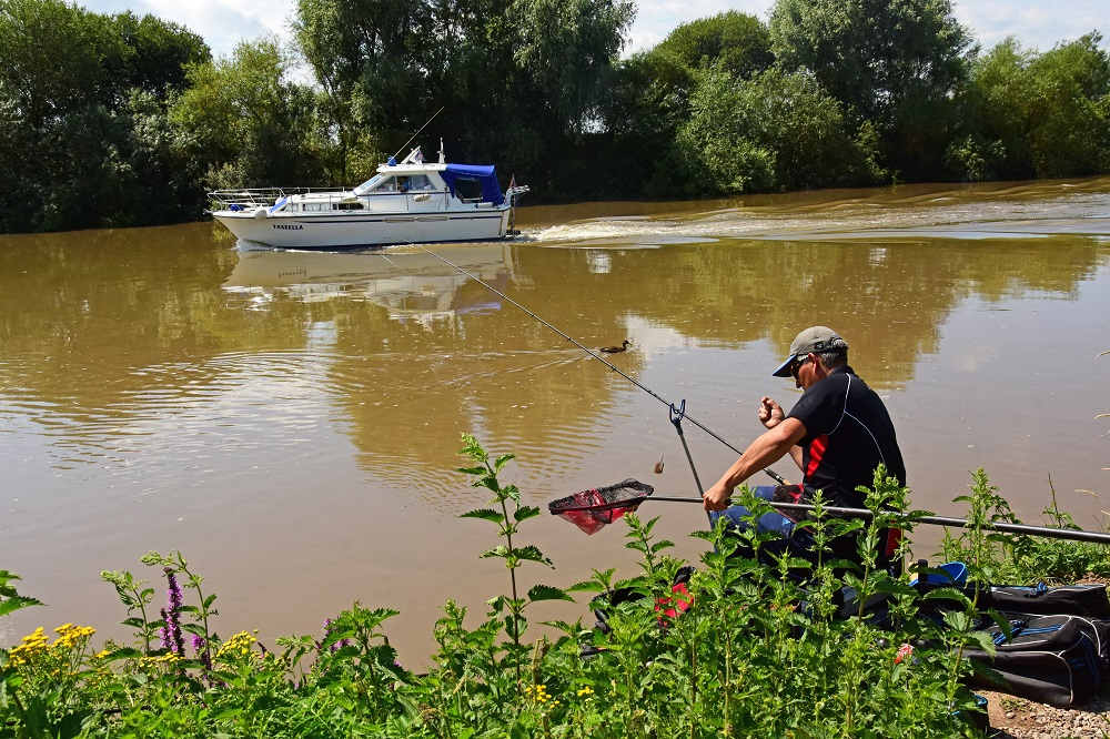 Boat traffic can be a problem at time on the tidal Severn